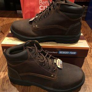 Skechers Segment men's hikers brown 10 extra wide